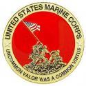 Marine CORPS IWO JIMA Emblem Medallion