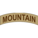 Mountain Tab Decal  (Tan)