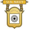 Navy Distinguished Marksman Badge Decal