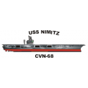Nimitz Class Aircraft Carrier USS Nimitz(CVN-68) Decal