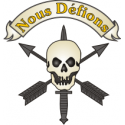 Nous D'Efions Mortus Discriminatus Skull