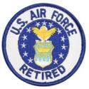 US Air Force Retired Crest Round Patch
