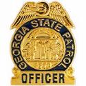 Georgia State Patrol Police Badge Pin