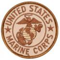United States Marine Corps with Eagle Globe and Anchor Desert Colored Patch
