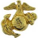 """United States Marine  Eagle Globe and Anchor EGA Round 1/2"""" Pin  Left Side"""