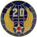 Army Air Corps WWII 20th Air Force CIB/PACIFIC Pin