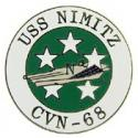 Navy USS Nimitz Pin