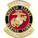 Operation Iraqi Freedom Marine CORPS Pin