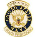 Operation Iraqi Freedom NAVY Pin