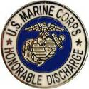 USMC Honorable Discharged Pin