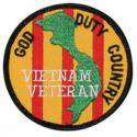 God Duty Country Vietnam Veteran Patch