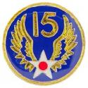 Army Air Corps WWII 15th Air Force EUROPE Pin