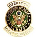 Operations Enduring Freedom Army Pin