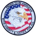 Proud To Be American with Eagle and USA Flag Patch