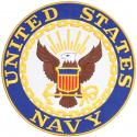 United States Navy Crest Large Round Patch