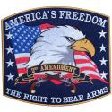 Americas Freedom The Right To Bear Arms Large Rectangle Patch