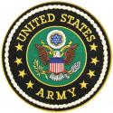 United States Army Crest Large Round Patch