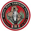 Iraq Campaign Service in Iraq Ribbon Patch