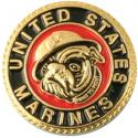 United States Marine Bulldog Lapel Pin