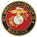 My Granddaughter is a Marine EGA Round Lapel Pin