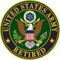 Army Logo Patch  Retired