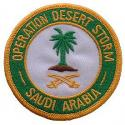 Operation Desert Storm Saudi Arabia Patch