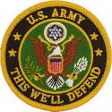 Army Logo Patch  This will defend.