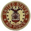 Air Force Logo Patch Tan