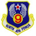 9th Air Force Patch