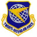 22nd Air Force Patch