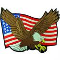 USA Flag and Eagle Patch