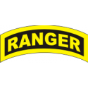 Ranger Tab Decal  (Gold on Black)