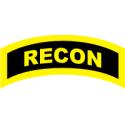 RECON Tab (Yellow/Black)   Decal