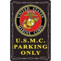 USMC PARKING ONLY ALUMINUM Sign