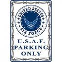 USAF PARKING ONLY ALUMINUM Sign