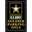 Soldier Parking Only  Army Star ALUMINUM Sign