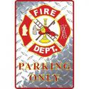 Fire Department ALUMINUM Sign