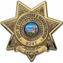 California Department of Corrections and Rehabilitation (Captain)  Badge all Met