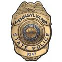 PENNSYLVANIA STATE POLICE TROOPER BADGE PERSONALIZED with your Badge Number Adde