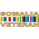 Somalia Veteran Ribbon Decal