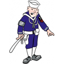 Navy Shore Patrol Sailor  Decal