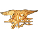 SEAL Trident Decal Gold