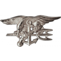 SEAL Trident Decal Silver