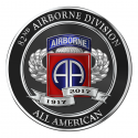 82ND AIRBORNE DIVISION 100TH ANNIVERSARY PATCH 4: Round