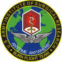 Army Institute of Surgical Research Burn Flight Team  Decal