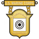USMC Distinguished Marksman Badge  Decal