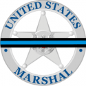 U.S. Marshal Service Badge with Memorial (1980 - Current)