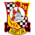 Marine Fighter Attack Squadron 312 Decal