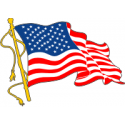 One Waving Flag Decal