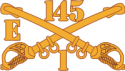 E Troop 1-145 Cavalry Decal